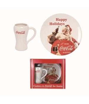 Dol Coke Santa Plate/Mug In Gift Box S/2