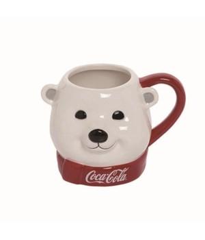 Dol 22Oz Coke Polar Bear With Scarf Mug