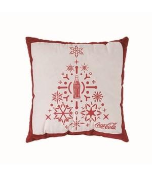 Coke Snowflake Tree Pillow