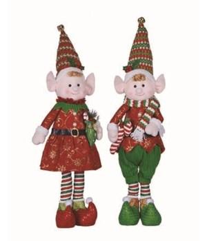 Lg Plush Elf Fig 2 Asst