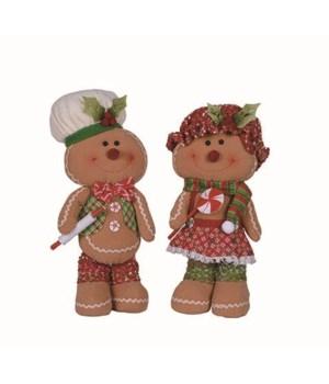 Sm Plush Gingerbread Fig 2 Asst
