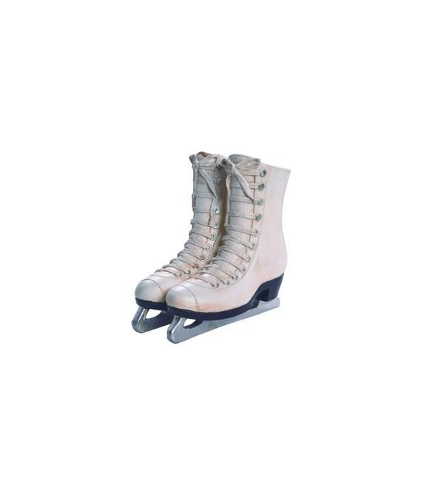 Res White Ice Skates Planter