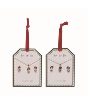Crystal Necklace/Earrings S/24 w/Display