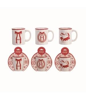 Dol Coca-Cola White Classic Mug 3 Asst