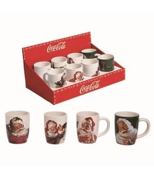 Dol 16Oz Coke Santa Mugs S/8 In Display
