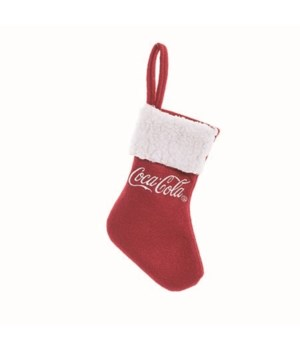Fabric Coke Stocking Gift Card Holder