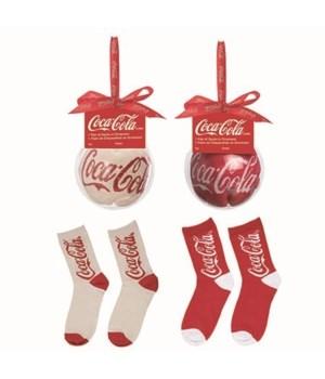 Knit Coke Socks In Acrylic Orn 2 Asst