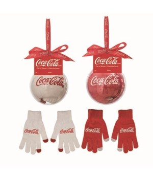 Fabric Coke Gloves In Acrylic Orn 2 Asst
