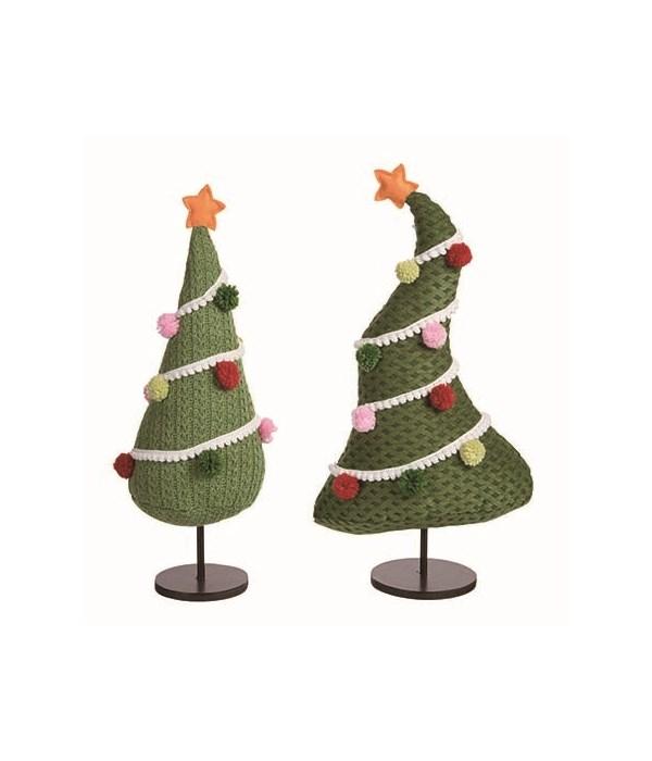 Plush Tree w/Pom Pom 2 Asst