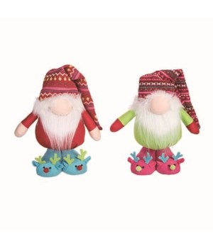 Plush Bright Standing Gnome 2 Asst