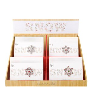 Bling Snowflake Pin S/24 With Display