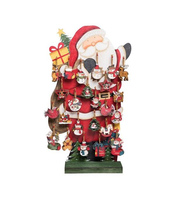 Plywood Christmas Orns w/Display S/192