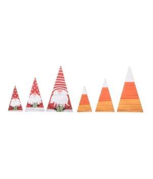 MDF Rvrsble Gnome/Candy Corn Trees S/3