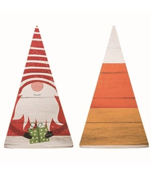 MDF Rvrsble Gnome/Candy Corn Porch Decor