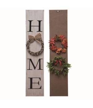 MDF Interchangeable Wreath Sign S/4