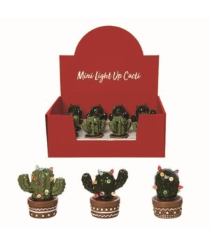 Dol Light Up Cacti In Crate S/12