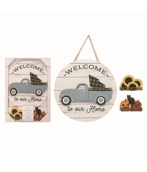 MDF Dimensional Truck Welcome Sign S/4
