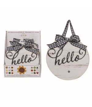 MDF Interchangeable Hello Sign S/6