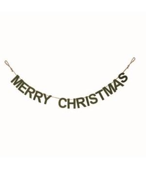 Plush Stuffed Felt Christmas Banner