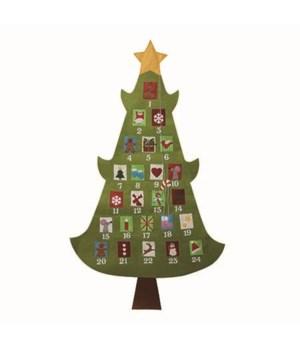 Felt Bright Tree Advent Calendar