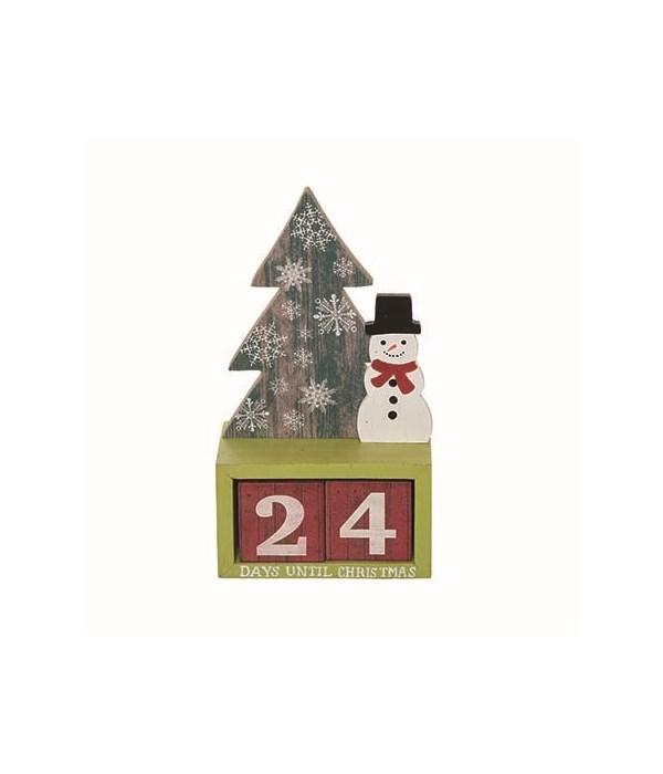MDF Bright Advent Calendar w/Blocks S/3