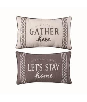 Fabric Reversible Autumn/Winter Pillow