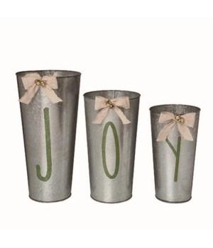 Metal Nesting Joy Buckets S/3
