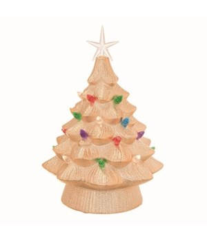 Cer Light Up Gold Christmas Tree