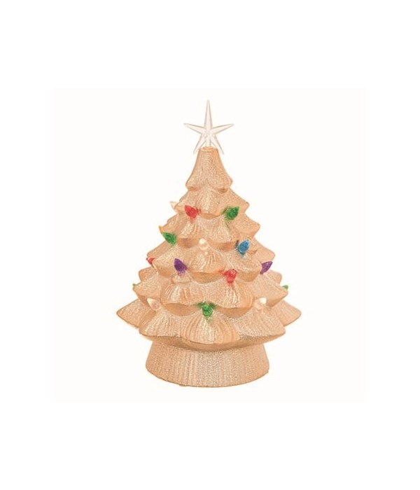 Cer Light Up Gold Christmas Tree