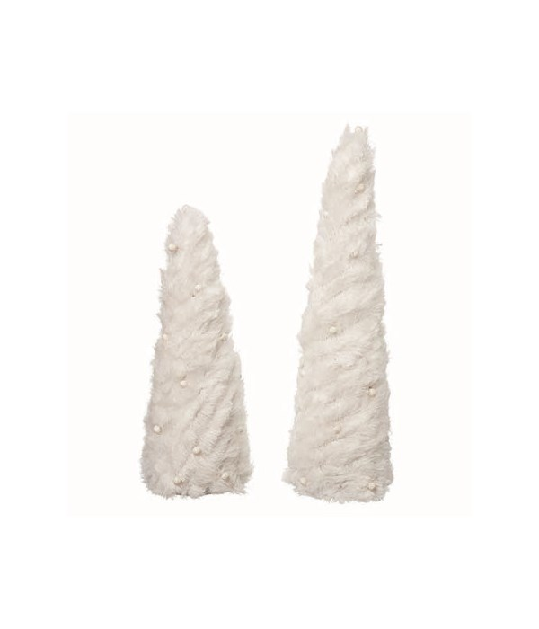 Fabric White Trees S/2