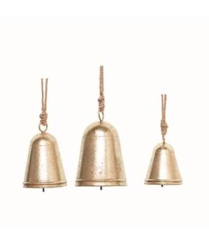 Metal Hanging Bells Decor S/3