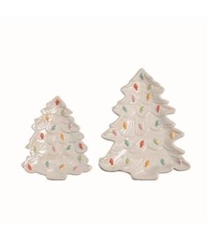 Dol Christmas Tree Plates S/2