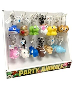 PARTY ANIMAL ASST KEYCHIANS 72/DSP