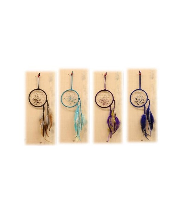 DREAM CATCHER LEATHER/BEADS 4 in. ASST