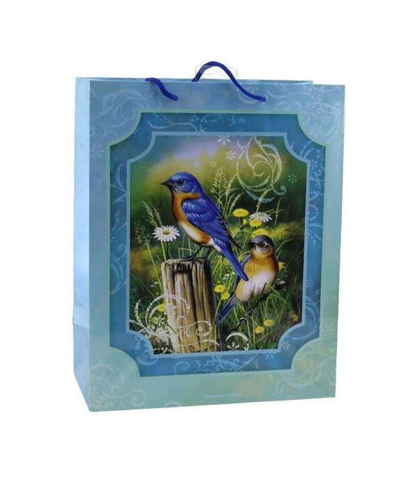 BLUEBIRDS MEDIUM GIFT BAGS 10 in.x13 in.x5 in.