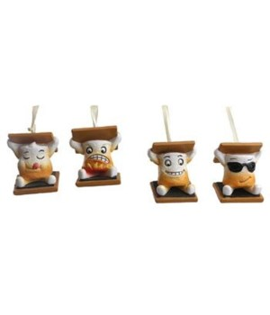 S-MORE CHARACTER ORNAMENTS 12/BX