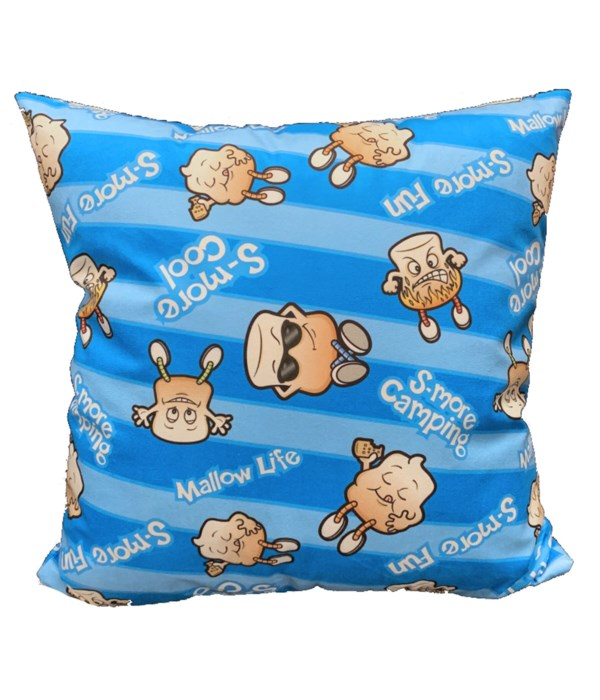 THROW PILLOW 18 in. BLUE S-MORE