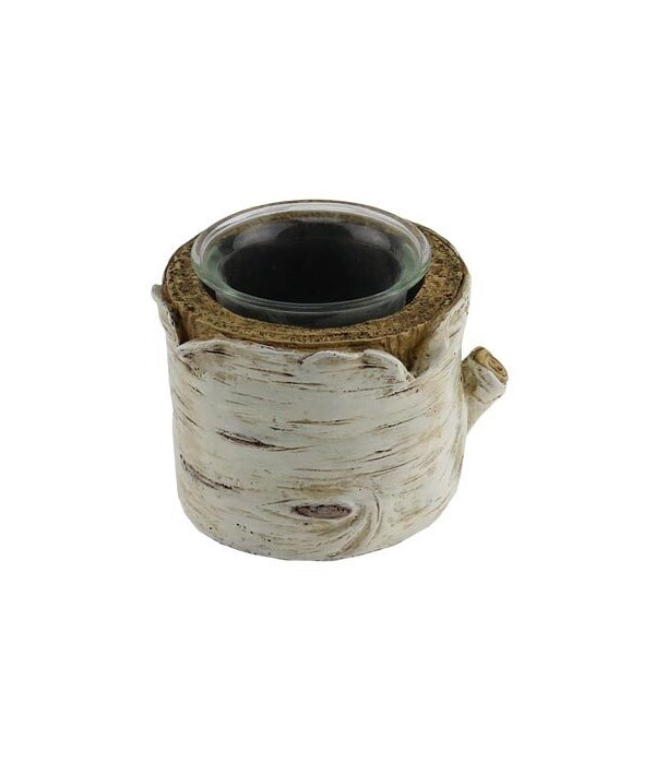 BIRCH CANDLE HOLDER 2.5 in. TALL