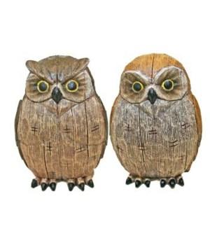 OWLS WOOD LOOK ASST 4.5 in.H x 3.25 in.W