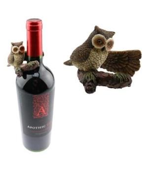 OWL WINE BOTTLE HANGER 3 in.x2 in..