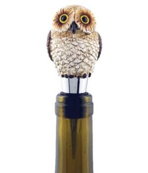 WINE STOPPER OWL ASST 1.5 in. x 1.5 in. x 4 in.