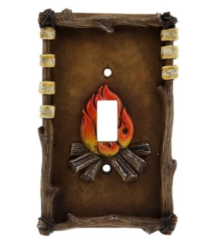 CAMPFIRE SINGLE SWITCH COVER 3.5 in. x 5.5 in.