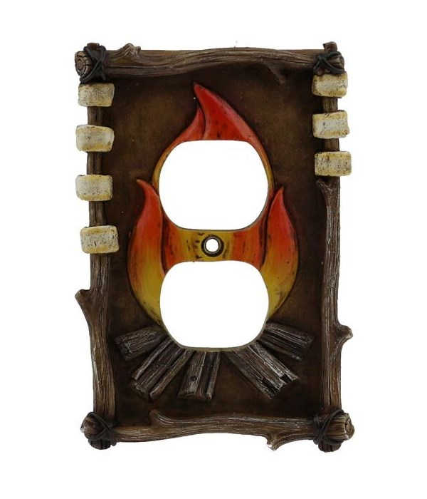 CAMPFIRE DOUBLE OUTLET COVER 5 in.x3.5 in..