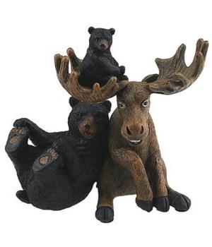 WILDLIFE SELFIE BEAR MOOSE 6 in.