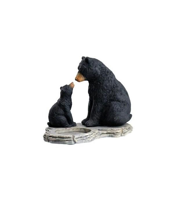 BLACK BEAR MOM/CUB HOLDS TEA LIGHT