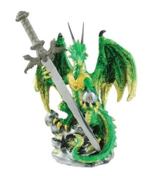 DRAGON WITH SWORD ASST 7 in. x 3.5 in. x 3.25 in.