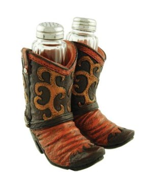 COWBOY BOOTS S&P HOLDER  4 in. x 4 in. x 4.5 in.