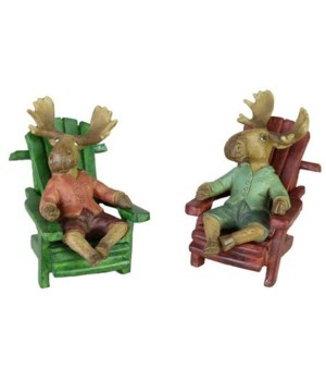MR MOOSE ADIRONDACK CHAIR ASST 3.3 in. x 2.3 in. x 3.3 in..