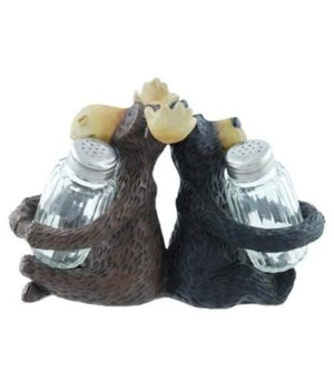 WILLIE AND MAX SALT AND PEPPER HOLDER 6.5 in. x 3 in. x 5.5 in..