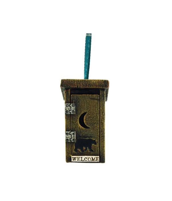 OUTHOUSE ORNAMENT 6/BX  1 in.x1 in.x2 in.